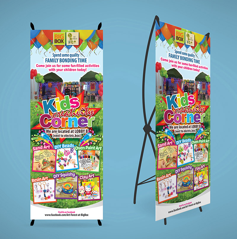 Art Forest @ Big Box Roll-up Banner