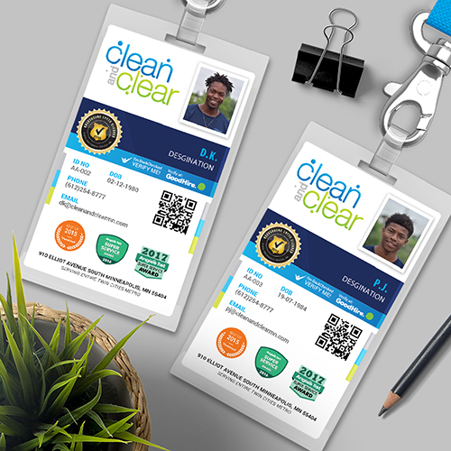 Clean and Clear Employee Card