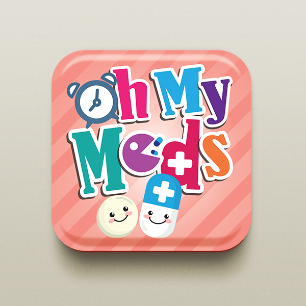 Oh My Meds Icon Design
